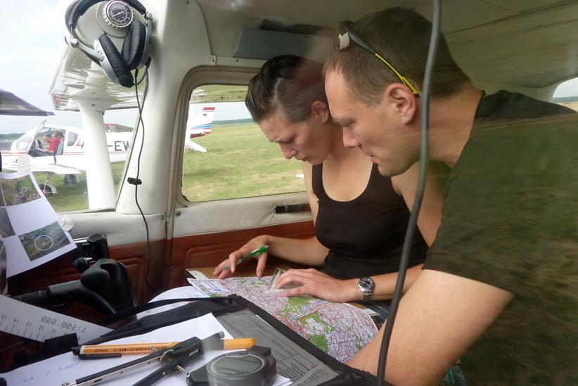 Flugvorbereitung-Klein