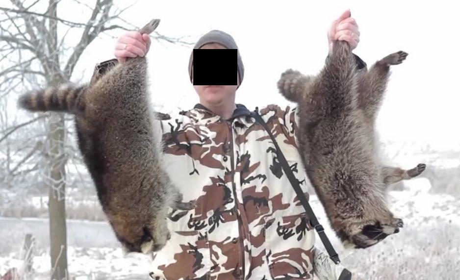 Waschbären-Jagd