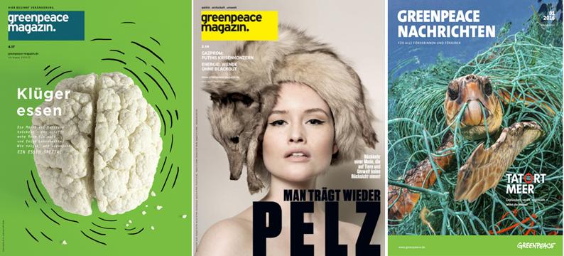 Greenpeace-Zeitungen