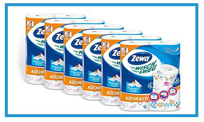Zewa-Wisch-und-Weg-Riesen-Kuechenrollen-Design-Kueche-und-Co.-,-72-Blatt-pro-Rolle,-6er-Pack-(6-x-2-Rollen)-von-Zewa-6813003