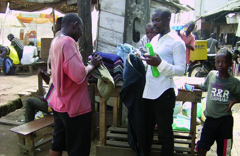 Verkauf von Secondhand-Kleidung